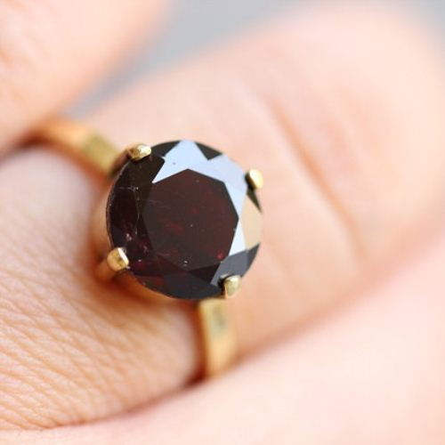 Buy 18k Gold Garnet Ring Natural Garnet Ring Artisan