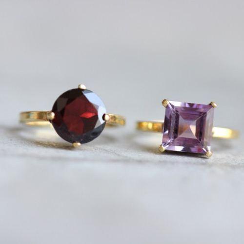 Buy 18k Gold Garnet Ring Natural Garnet Ring Artisan
