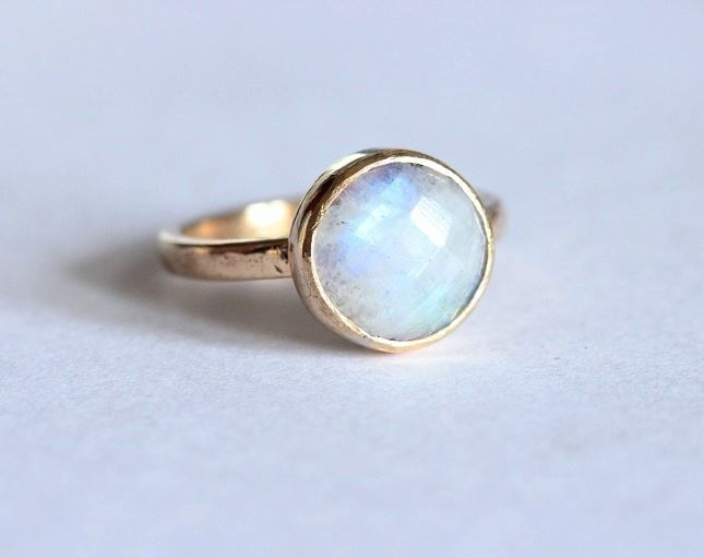 4ded92178d6d2 Buy 18K Gold Moonstone ring, Natural Rainbow moonstone engagement ring  Online at aStudio1980.com
