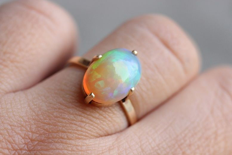 top custom pin opal men and view black s ring yellow gold