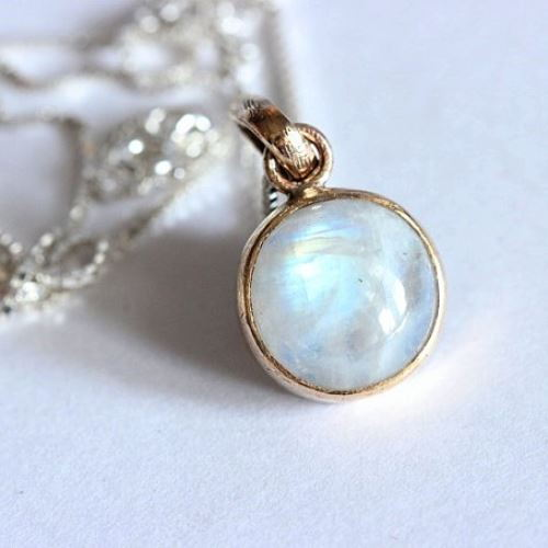 etsy market crystal il birthstone jewelry moonstone necklace jewellery june raw