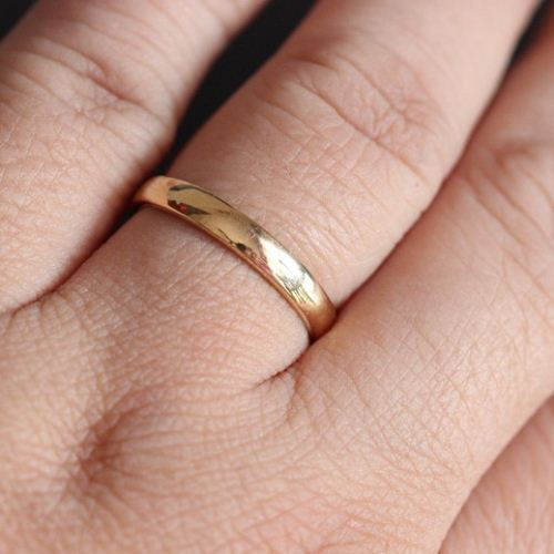 Buy 18k yellow gold wedding band handmade band online at 18k yellow gold wedding band handmade band junglespirit Choice Image