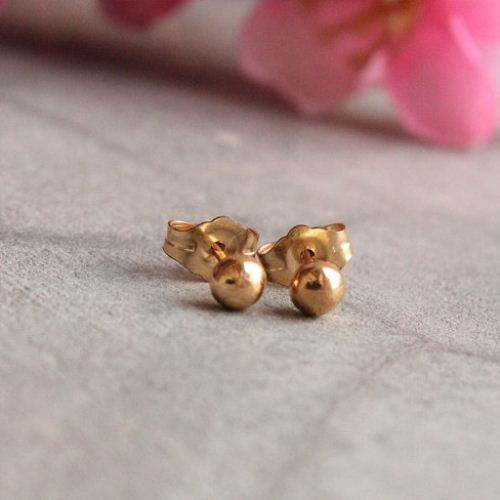 22k Gold Stud Earrings Jewelry 5mm Small Studs