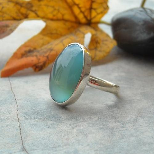 chalcedony ring stone images aquamarine on pinterest rings jewelery faytiniakou best aqua jewellery