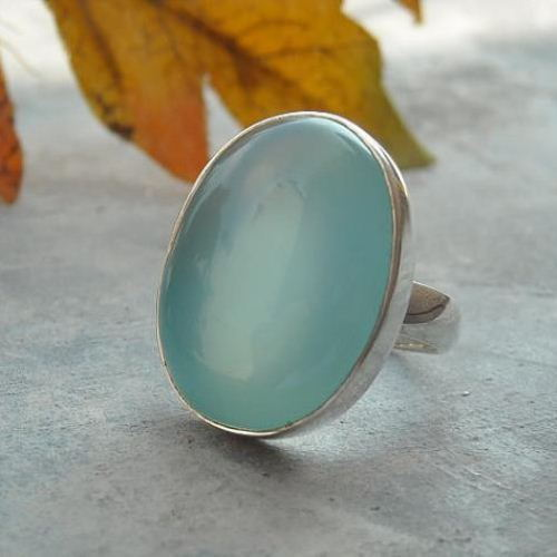 and gold online aqua web res rings sale jewellery irish oyster vermeil ring rose buy chalcedony in contemporary