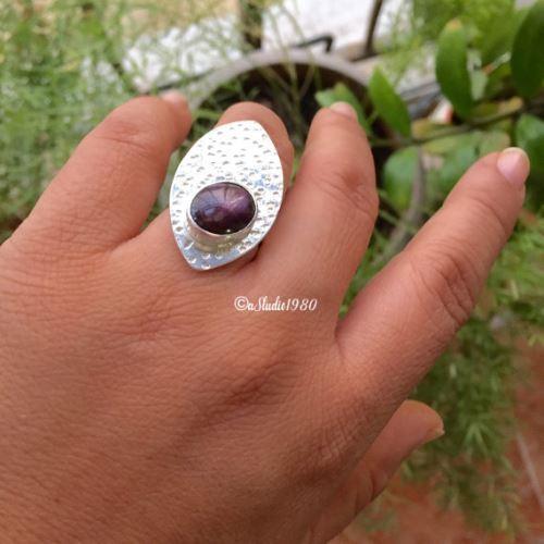 Buy Indian Star Ruby Ring 925 Sterling Silver Rings