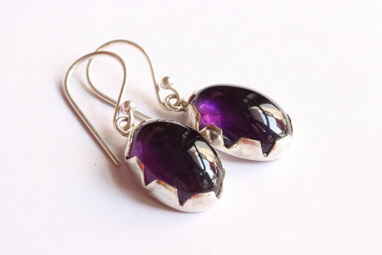 Earrings Amethyst Purple