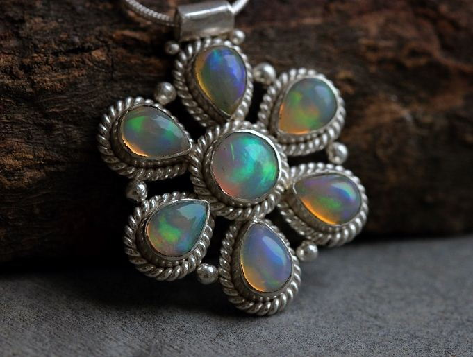 Artisan pendant Genuine Natural Opal