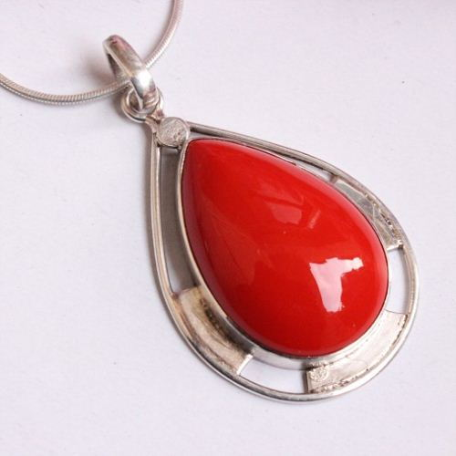 victoire pendant gold drop haute fine sardinian coral products jewelry onme chain red