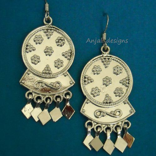 Beautiful Designer Sterling silver solid round earrings