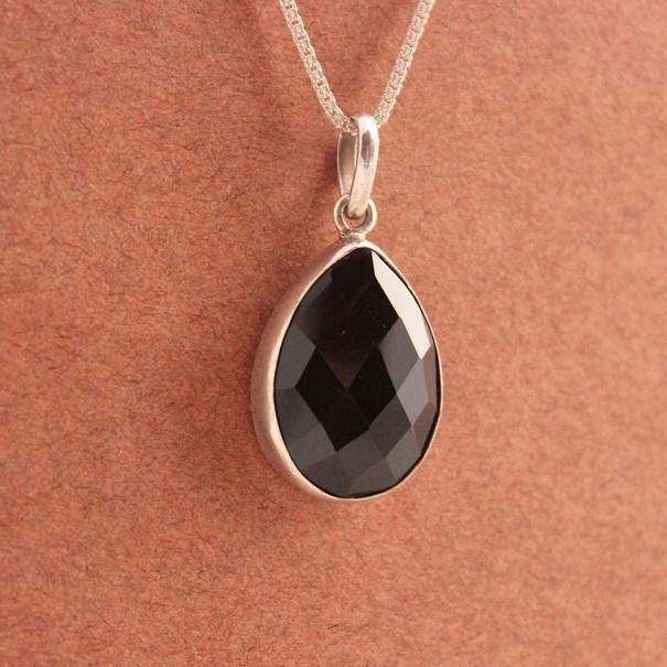 Buy one of a kind handmade black onyx jewelry online at astudio1980 black pendant black onyx pendant tear drop silver pendant aloadofball Image collections