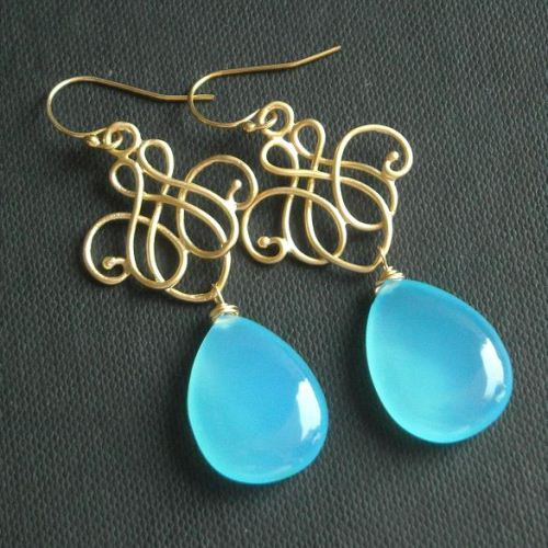 Buy blue chalcedony earrings blue chandelier silver dangler buy blue chalcedony earrings blue chandelier silver dangler earrings online at astudio1980 aloadofball Choice Image