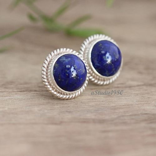 lapis stud set co and tiffany cufflink