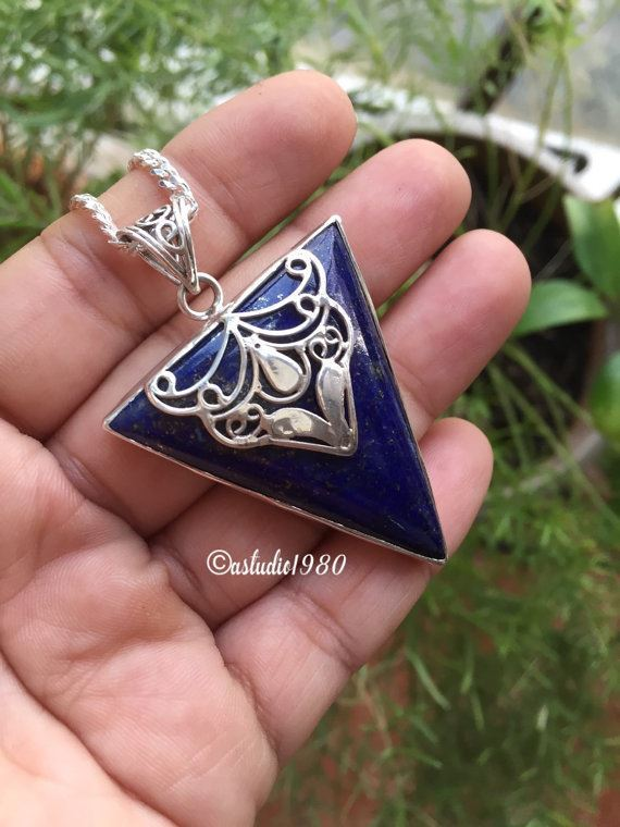 Buy one of a kind handmade lapis lazuli jewelry online at lapis lazuli pendant necklace artisan sterling silver pendant chains mozeypictures Images