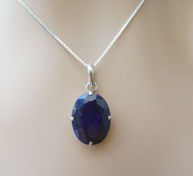 synthetic context productx silver pendant sapphire p and cubic zirconia saphire