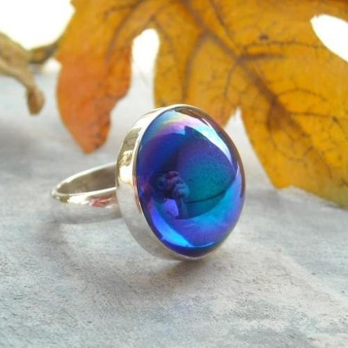 Blue vintage cab ring Sapphire