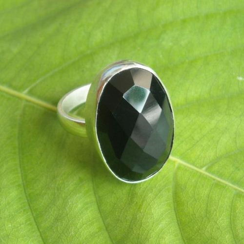 Bold Black onyx ring oval