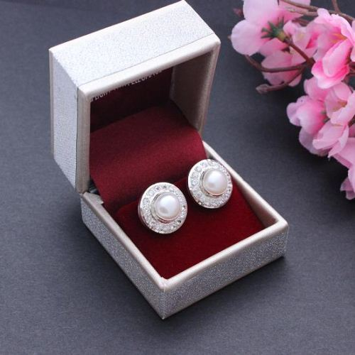 Bridal Pearl earrings Pearl stud