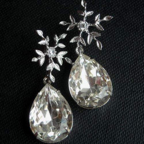 Bridal Crystal Earrings Jewelry Wedding Sterling Silver Online At Astudio1980