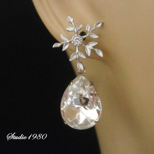 Bridal earrings bridal jewelry wedding jewelry crystal earrings