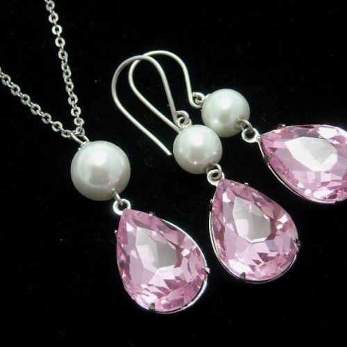 fb8f5db48 Bridal jewelry, Swarovski crystal bridal jewelry, Wedding jewelry, Bridal  set, Wedding set