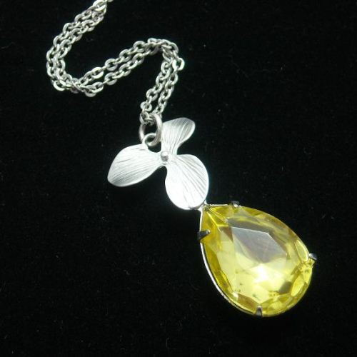 Buy Bridal Jewelry Canary Yellow Necklace Jonquil