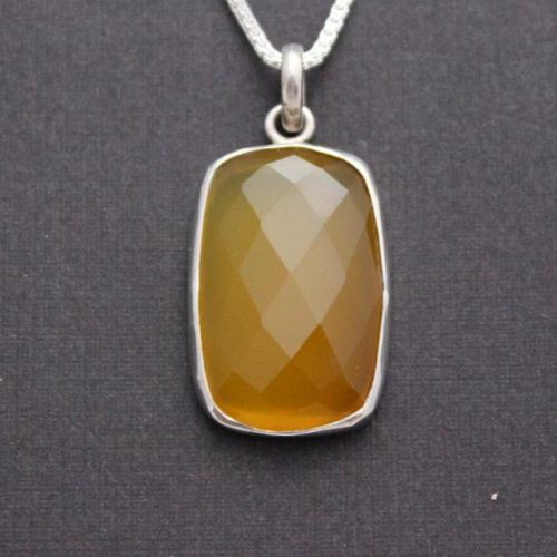Canary yellow pendant Rectangle pendant