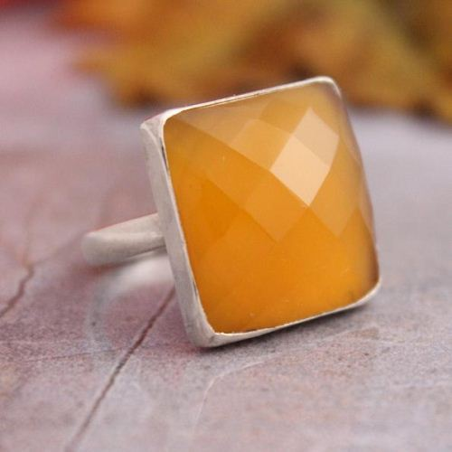 Canary yellow ring Gemstone ring