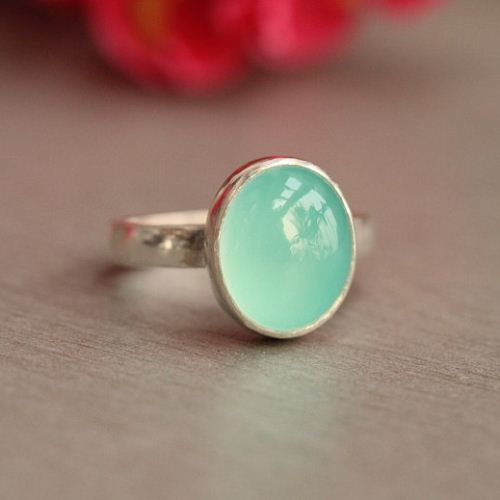 Buy Chalcedony Ring Aqua Blue Handmade Silver Ring Online