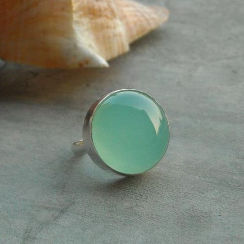 gemstone il blue chalcedony rings listing ring