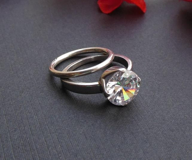 Cz Solitaire ring Engagement ring