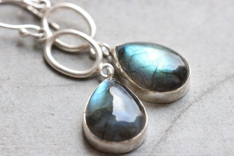 silver set bracelet s in stone jewelry antique earrings p necklace women blue