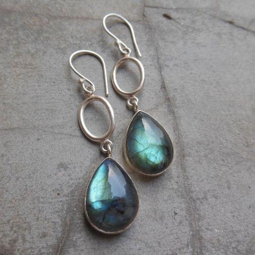 Buy Dangle Earrings Labradorite Earrings In Sterling