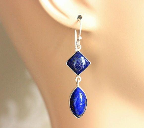 Dangler Earrings Lapis Lazuli