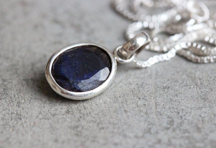 Dark Blue Shire Necklace
