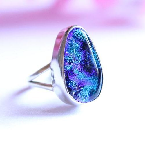 Dichoric glass ring Artisan Ring