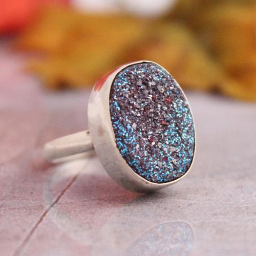 Buy Druzy Ring Druzy Quartz Rings Titanium Druzy Silver