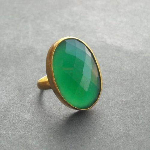 Buy Emerald green ring gemstone ring vermeil gold ring green