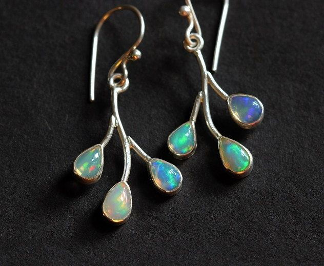 Genuine opal earrings Artisan Opal