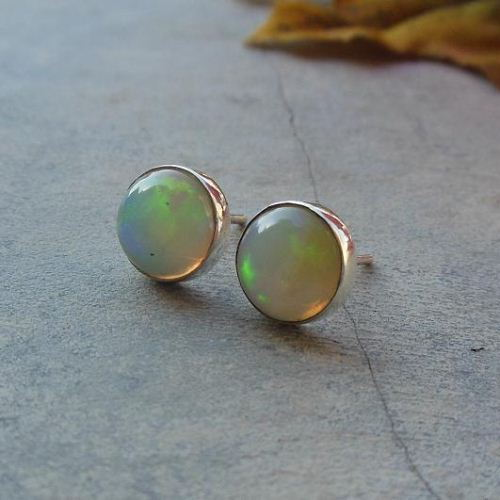Buy Real Opal Stud Earrings Silver Online At Astudio1980 Com