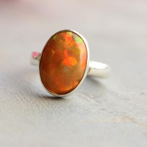 Buy Genuine opal ring Natural Opal Ring Mens opal silver ring