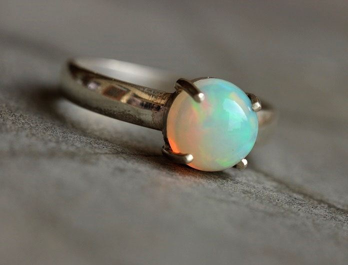 Ethiopian opal ring Natural Opal