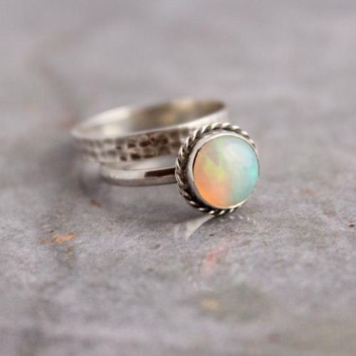 Genuine opal ring Natural opal