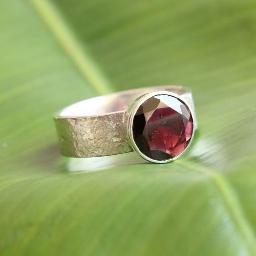 Garnet Ring Red Artisan ring