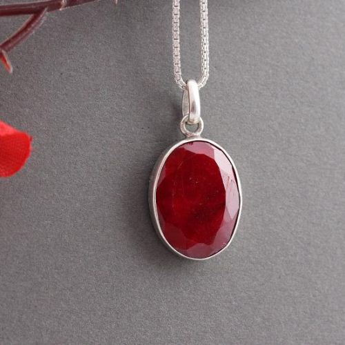 Buy genuine ruby pendant red pendant silver gemstone pendant genuine ruby pendant red pendant silver gemstone pendant aloadofball Choice Image