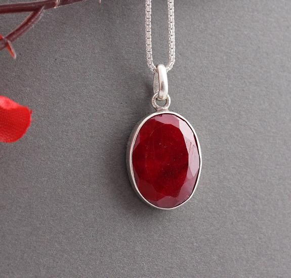 Genuine Ruby pendant Red pendant