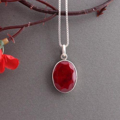 Buy genuine ruby pendant red pendant silver gemstone pendant genuine ruby pendant red pendant silver gemstone pendant mozeypictures Gallery
