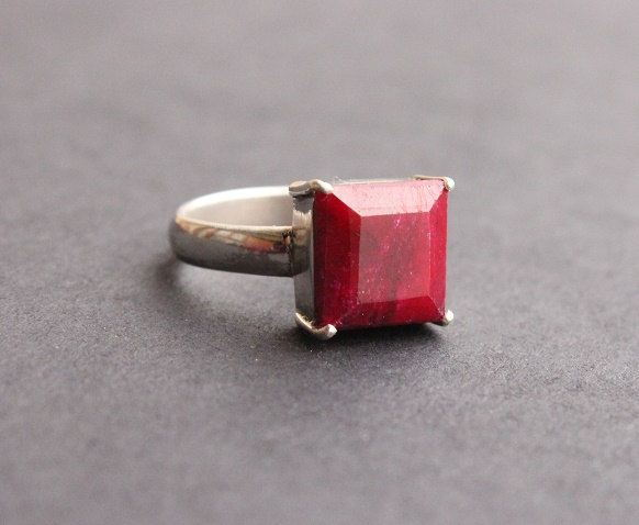 Genuine Ruby ring Gemstone ring