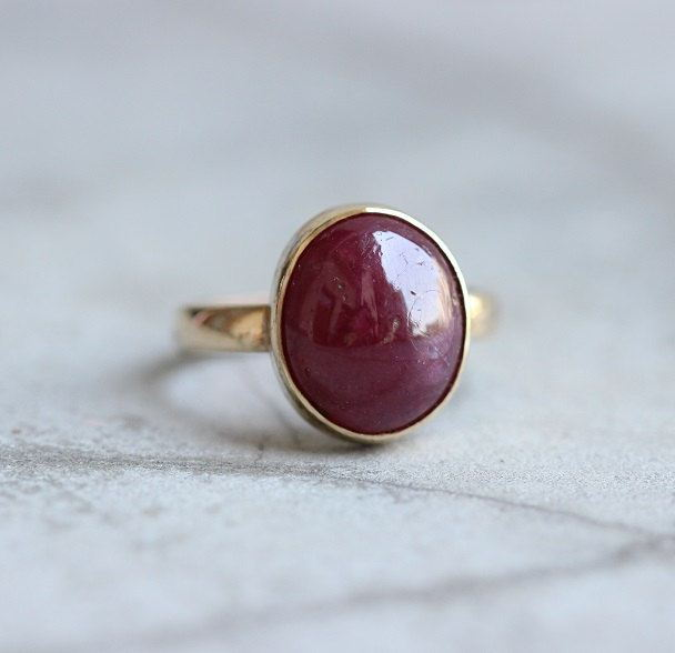Gold ruby ring Ruby ring