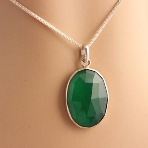 Buy green onyx pendant green pendant necklace oval bezel set buy green onyx pendant green pendant necklace oval bezel set pendants online at astudio1980 aloadofball
